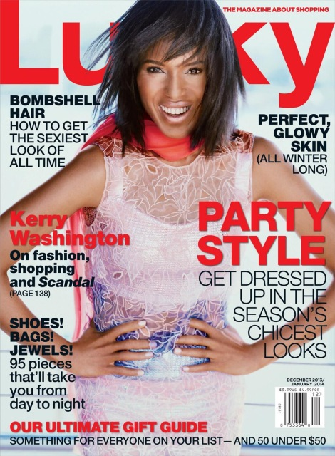 Kerry Washington for Lucky December 2013