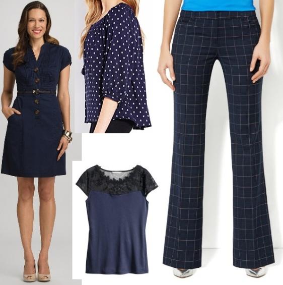 Dress @Dress Barn $40.00, Peasant Top @Forever 21 $22.80, Top @H&M $17.95, Pants @New York & Company $52.95.