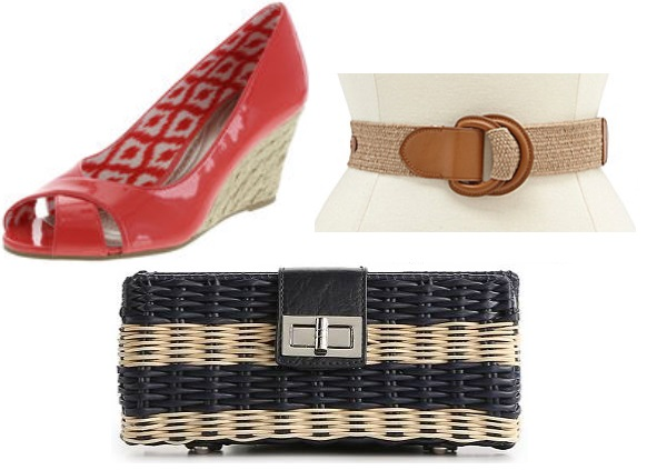 Payless wedges, Dillard's Lauren Ralph Lauren belt, & DSW Kelly & Katie clutch.