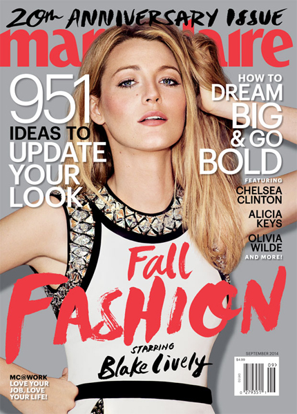 Blake Lively for Marie Claire September 2014