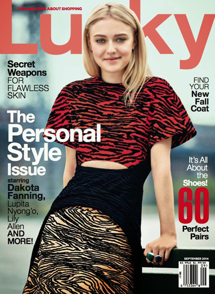 Dakota Fanning for Lucky September 2014