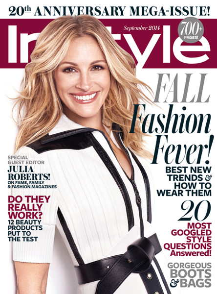 Julia Roberts for InStyle September 2014