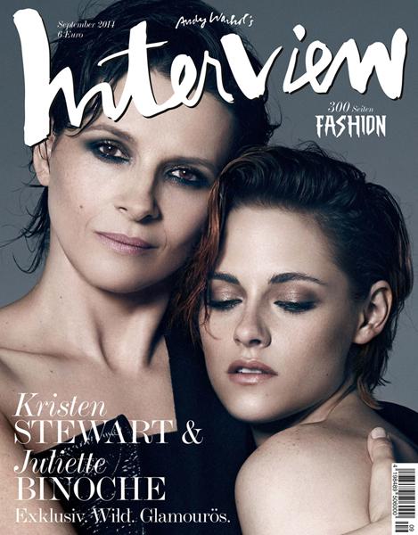 Juliette Binonche & Kristen Stewart for Interview Germany September 2014