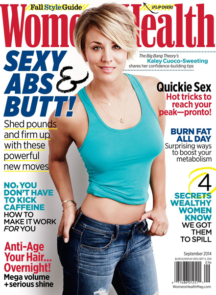Kaley Cuoco for Women's Health September 2014