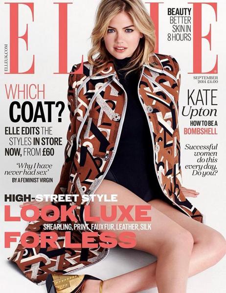 Kate Upton for ELLE UK September 2014