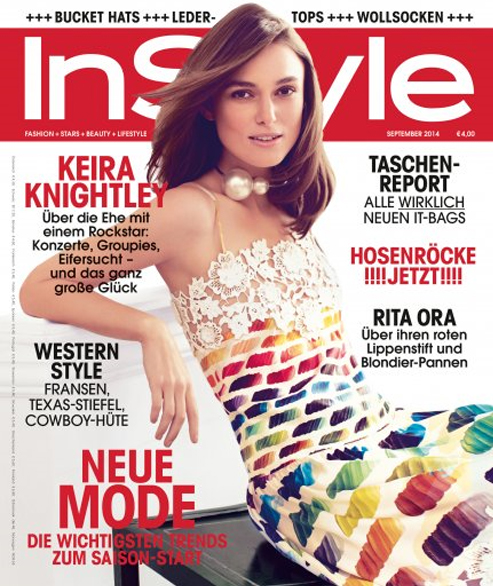 Keira Knightley for InStyle Germany September 2014