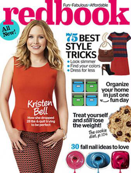 Kristen Bell for Redbook September 2014