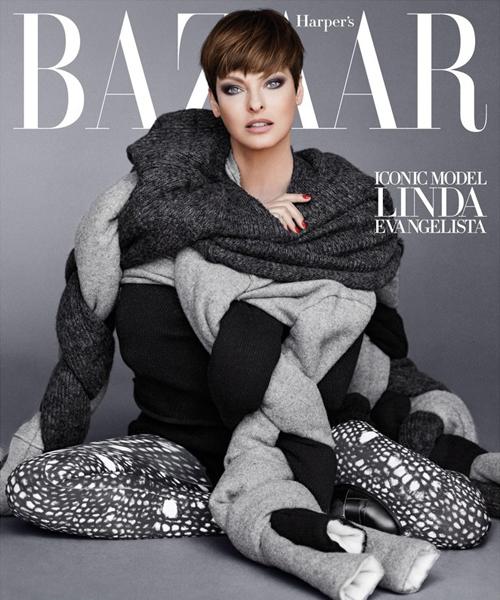 Linda Evangelista for Harper's Bazaar September 2014