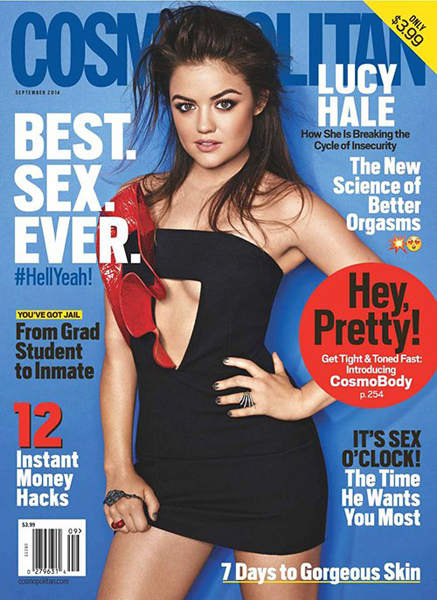 Lucy Hale for Cosmopolitan September 2014