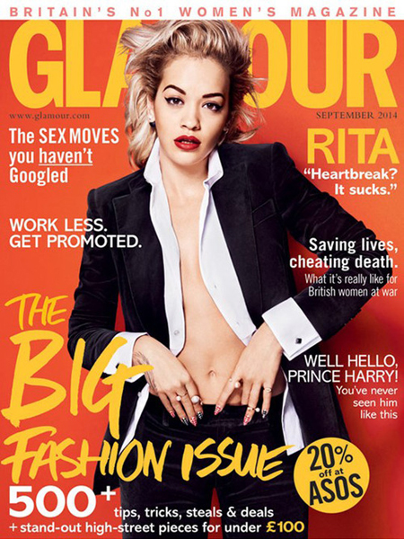 Rita Ora for Glamour UK September 2014