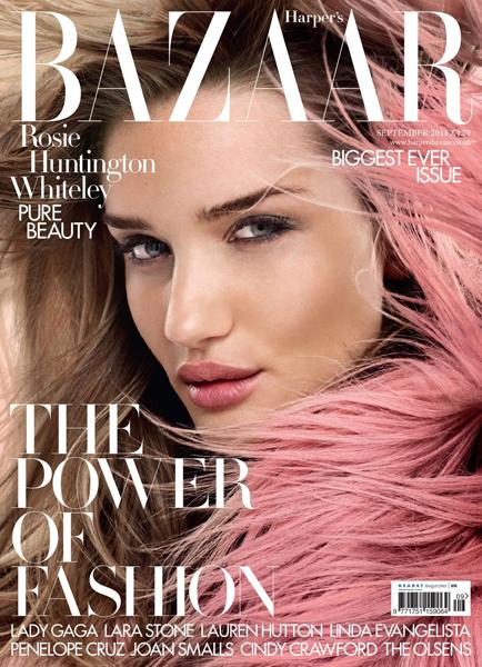 Rosie Huntington-Whiteley for Harper's Bazaar UK September 2014