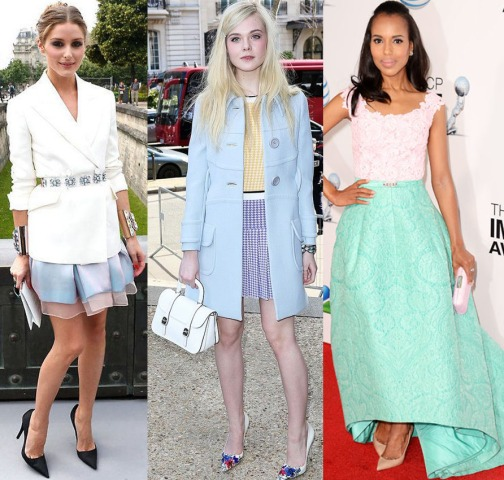 Olivia Palermo, Elle Fanning, & Kerry Washington.