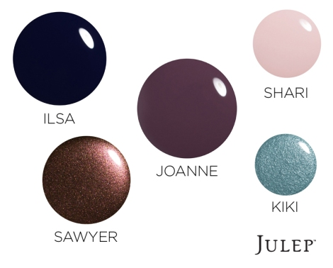 Trending Winter Colors, courtesy of Julep.