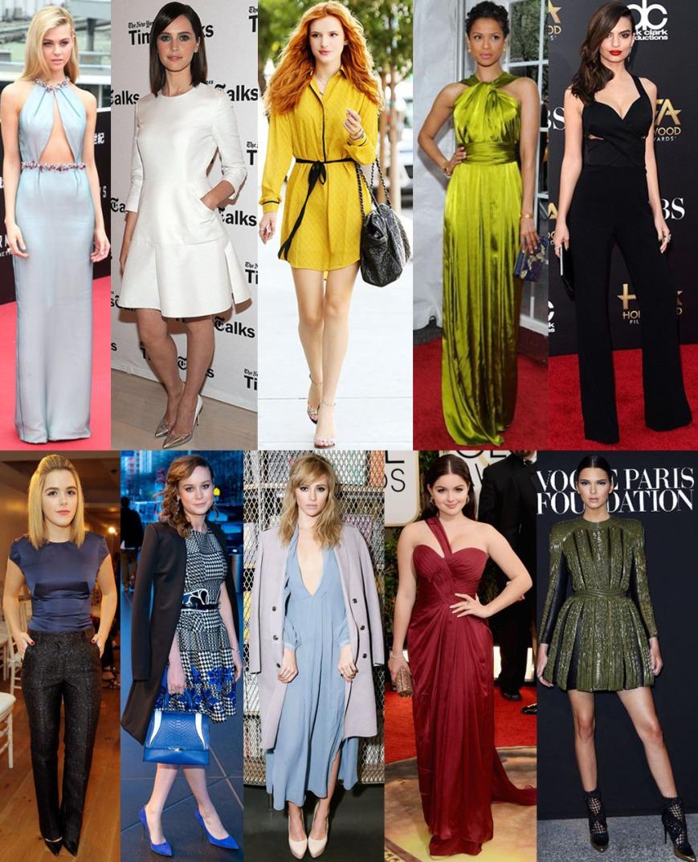 Nicola Peltz, Felicity Jones, Bella Thorne, Gugu Mbatha-Raw, Emily Ratajkowski, Kiernan Shipka, Brie Larson, Suki Waterhouse, Ariel Winter, & Kendall Jenner.