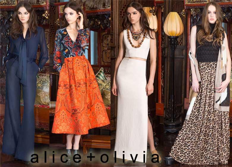 Alice + Olivia Pre-Fall 2015 Collection.