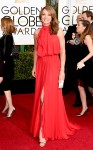 Allison Janney in a red knotted Ella Zahlan gown.