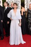 Amanda Peet in a silver pleated J. Mendel gown.