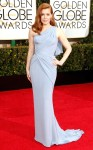 Amy Adams in a lavender Versace one-shoulder gown & jewelry by Tiffany & Co. with Jimmy Choo sandals.