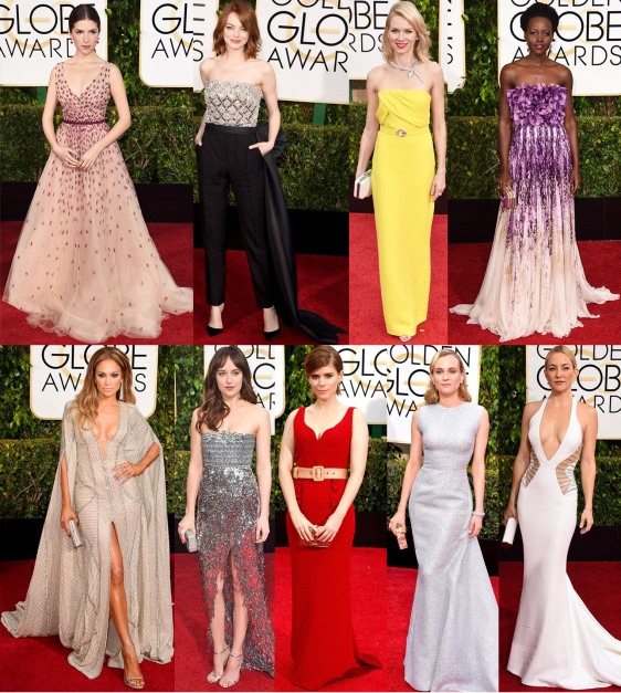 Anna Kendrick, Emma Stone, Naomi Watts, Lupita Nyong'o, Jennifer Lopez, Dakota Johnston, Kate Mara, Diane Kruger, & Kate Hudson.