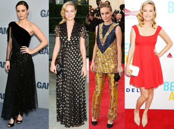 Brie Larson in Rodarte, DVF, Prada, & Prada.