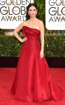 Catherine Zeta-Jones in a red strapless gown.