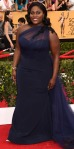 Danielle Brooks in a midnight one-shoulder Christian Siriano gown.