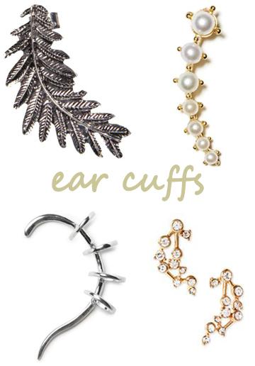 Ear cuffs.