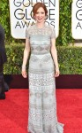 Ellie Kemper in a blue short sleeved Naeem Khan gown.