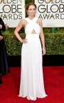 Emily Blunt in a white halter Michael Kors gown.