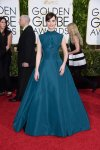 Felicity Jones in a jade Dior ballgown.
