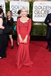 Helen Mirren in a red Dolce & Gabbana gown.
