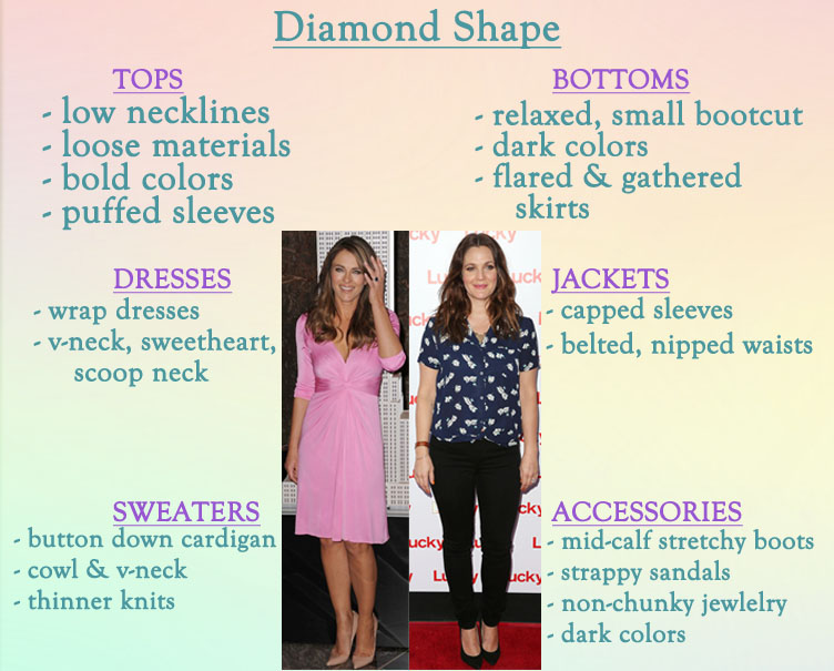 How to style a diamond shape.