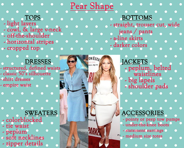 How to style a pear shape.