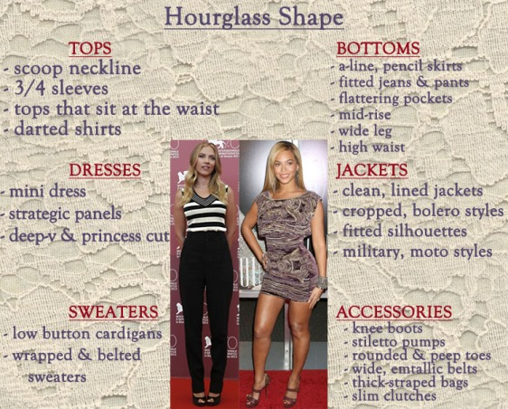 How to style an hourglass shape.