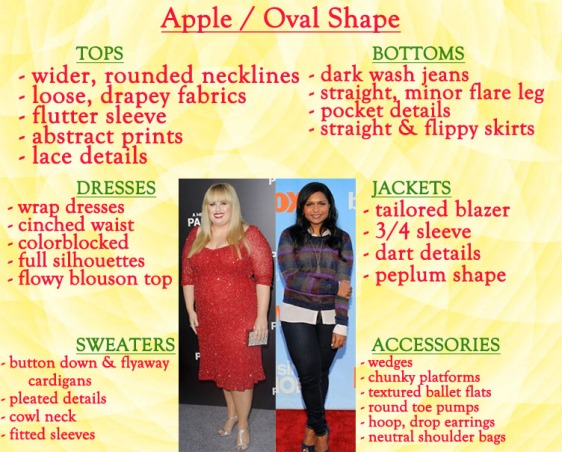 How to style an oval apple shape.