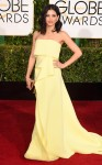 Jenna Dewan-Tatum in a pale yellow strapless Carolina Herrera gown.