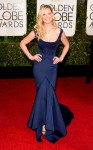 Katherine Heigl in a cobalt blue Zac Posen gown.