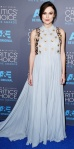 Keira Knightley in a pale blue embellished Delpozo dress.