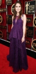 Keira Knightley in a purple lace Erdem gown & earcuff by Repossi.
