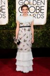 Keira Knightley in a ruffled-tirered Chanel gown.