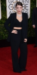 Lorde in a black custom suit by Narciso Rodriguez & jewelry Neil Lane.