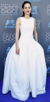 Marion Cotillard in a white Dior structured gown with Chopard jewelry.