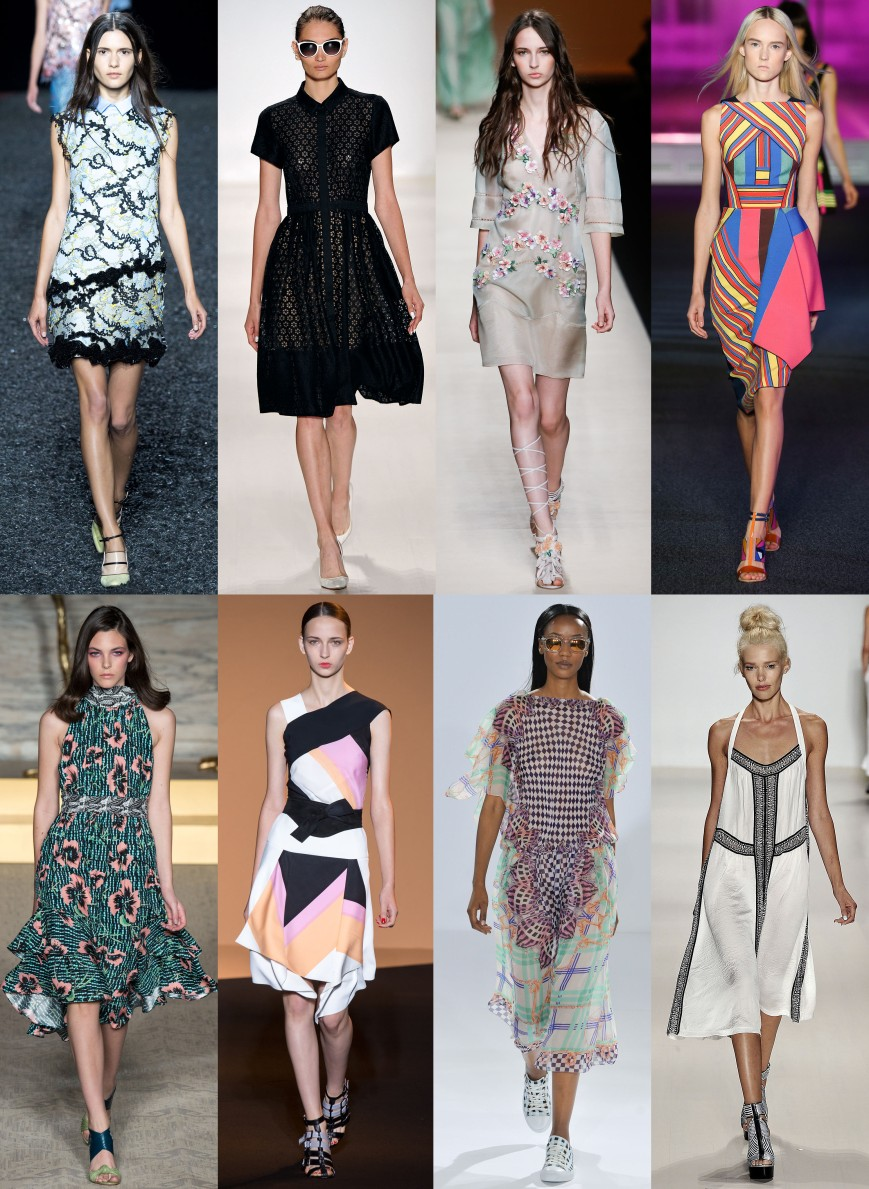 Mary Katranzou, Erin Fetherston, Alberta Ferretti, Peter Pilotto, Matthew Williamson, Roland Mouret, Temperley London, & Nanette Lepore Spring 2015 Ready-To-Wear.