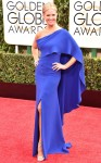 Nancy O'Dell in a cobalt blue sari gown.