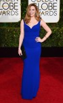 Natasha Lyonne in a cobalt blue mermaid gown.