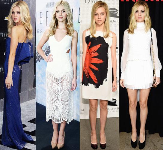 Nicola Peltz in Balenciaga, Dolces & Gabbana & Stella McCartney, Dior, & Miu Miu.