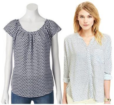 Printed blouses.