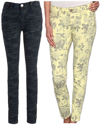 Printed jeans.