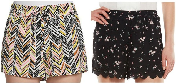 Printed shorts.