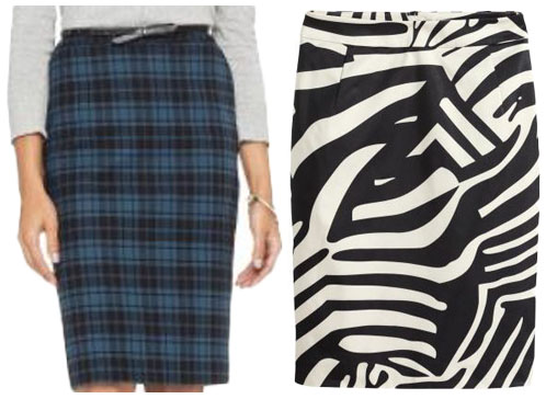 Printed skirts.